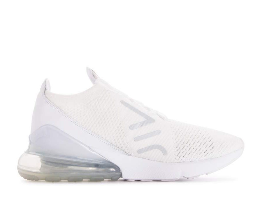 AO1023-102 Nike Air Max 270 Flyknit Chaussures - Blanche/Blanche