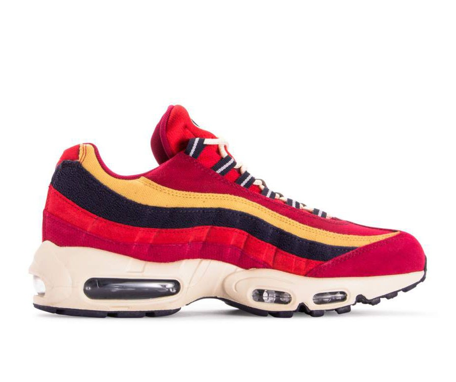 538416-603 Nike Air Max 95 Premium - Rouge/Violet-Wheat Gold