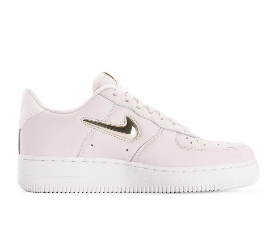 AO3814-001 Nike Femme Air Force 1 '07 Premium LX - Phantom/Metallic Gold-Blanche