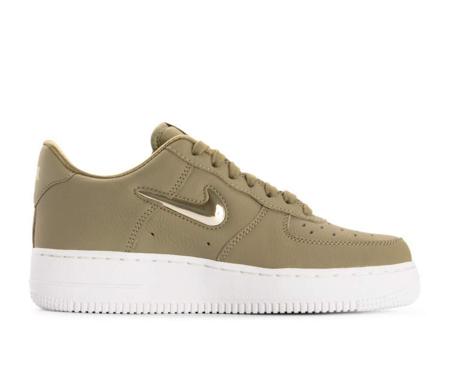 AO3814-200 Nike Femme Air Force 1 '07 Premium LX - Olive/Metallic Gold-Metallic Bronze