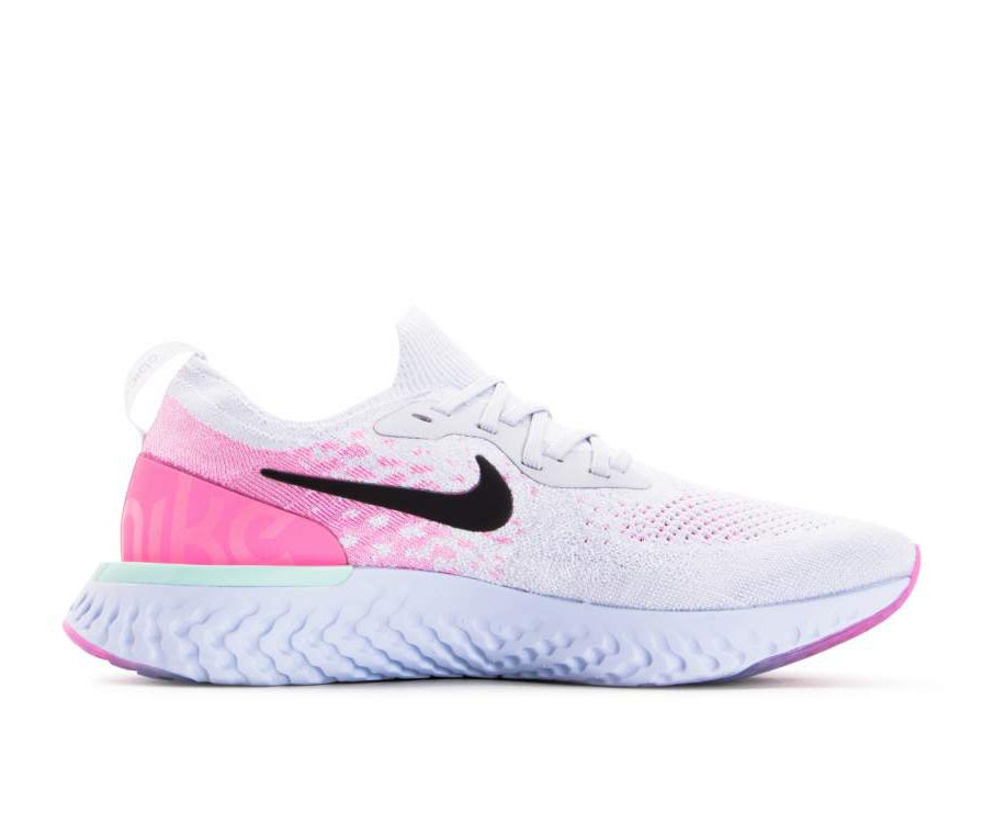 AQ0067-007 Nike Epic React Flyknit - Pure Platinum/Noir/Rose