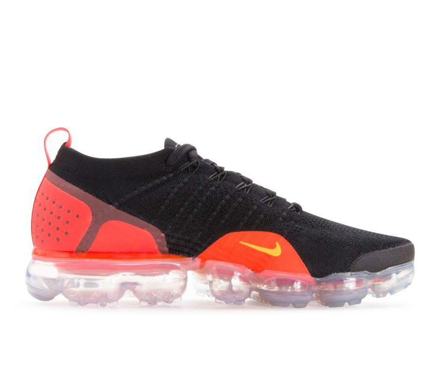 942842-005 Nike Air Vapormax Flyknit 2 - Noir/Orange/Total Crimson