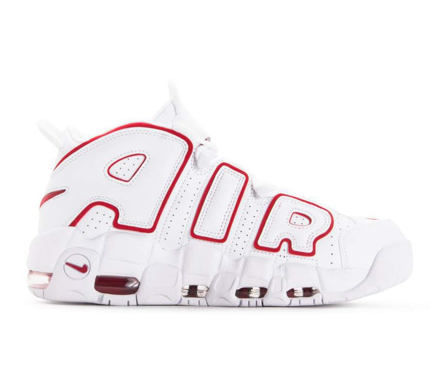921948-102 Nike Air More Uptempo 96 Chaussures - Blanche/Rouge/Blanche