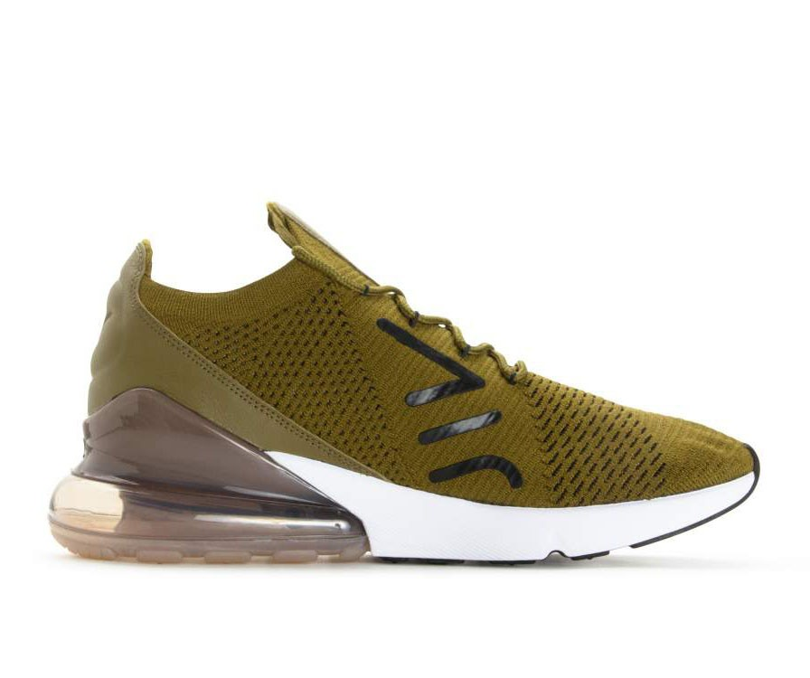 AO1023-300 Nike Air Max 270 Flyknit - Olive Flak/Noir/Sepia Stone