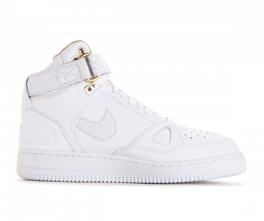 AO1074-100 Nike Air Force 1 Hi Just Don Chaussures - Blanche/Blanche-Blanche