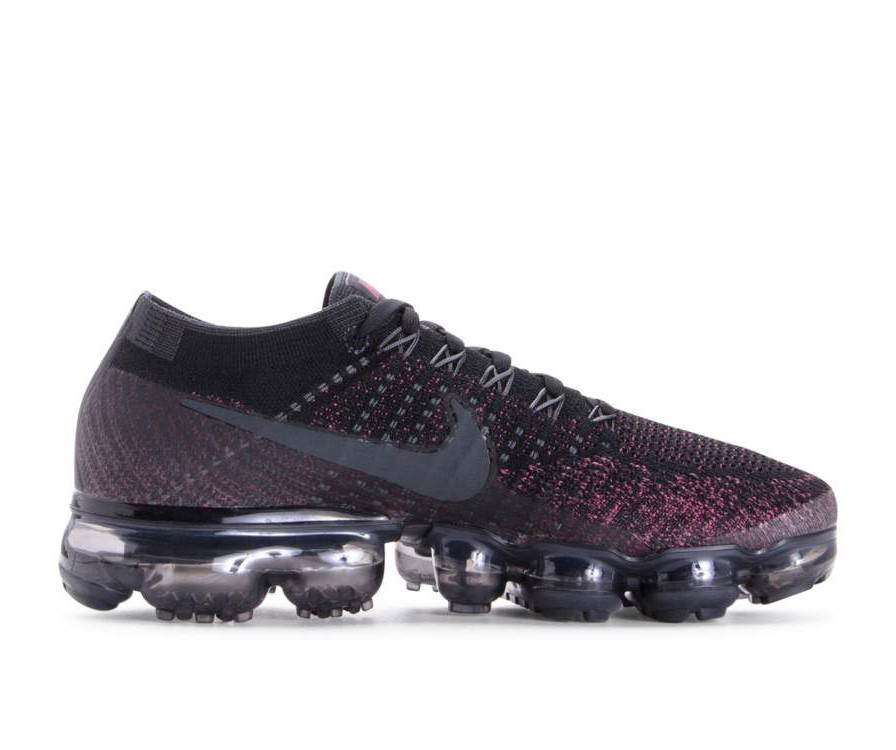 849557-007 Nike Femme Air Vapormax Flyknit - Noir/Anthracite/Vintage Wine