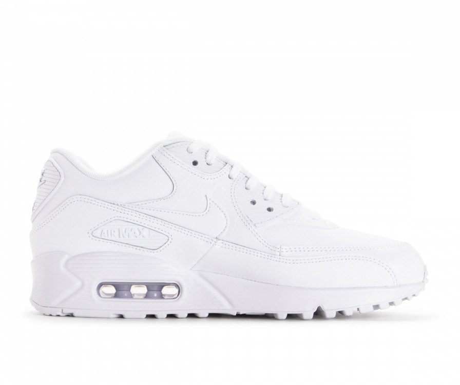 325213-133 Nike Air Max 90 Chaussures - Blanche/Blanche/Blanche