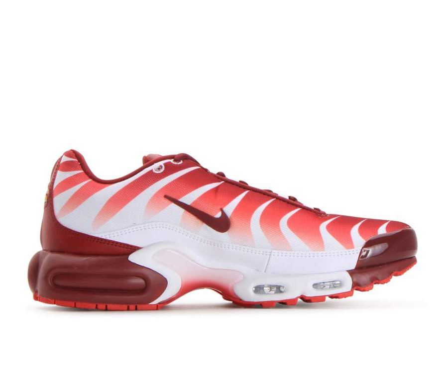 AQ0237-101 Nike Air Max Plus Tn SE Chaussures - Blanche/Rouge/Rouge