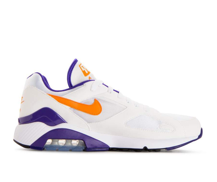 615287-101 Nike Air Max 180 Chaussures - Blanche/Bright/Ceramic/Dark Concord