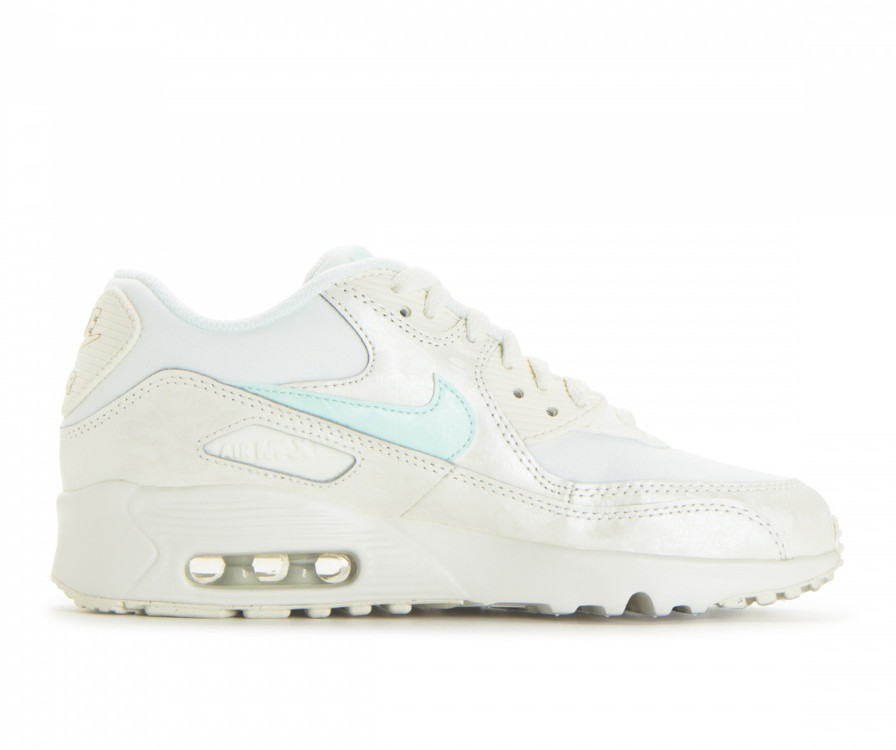 833340-107 Nike Air Max 90 Mesh GS Chaussures - Sail/Igloo