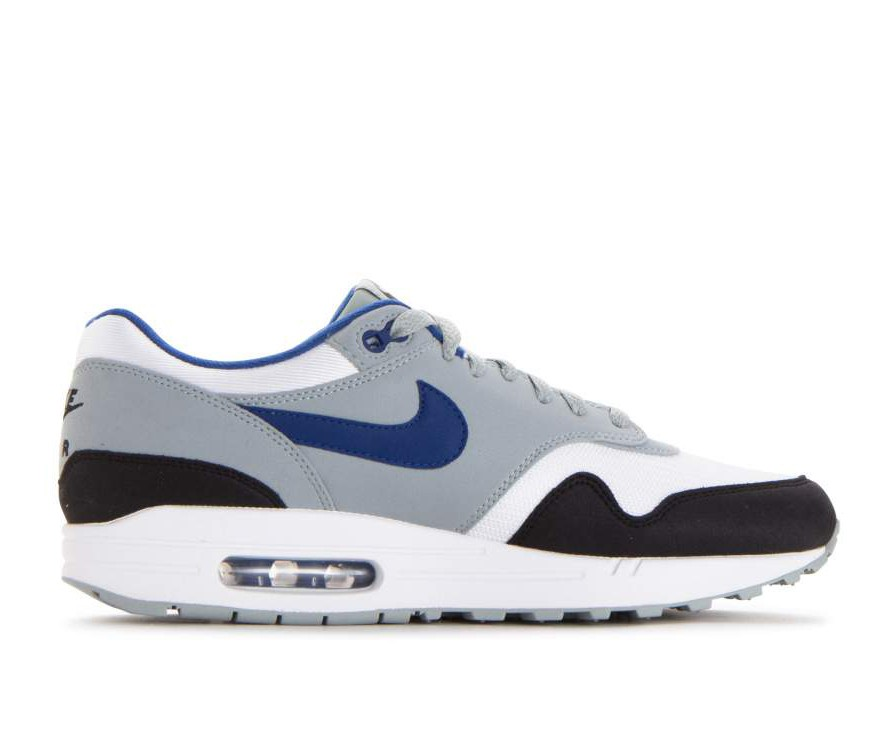 AH8145-102 Nike Air Max 1 - Blanche/Gym Bleu-Light Pumice-Noir