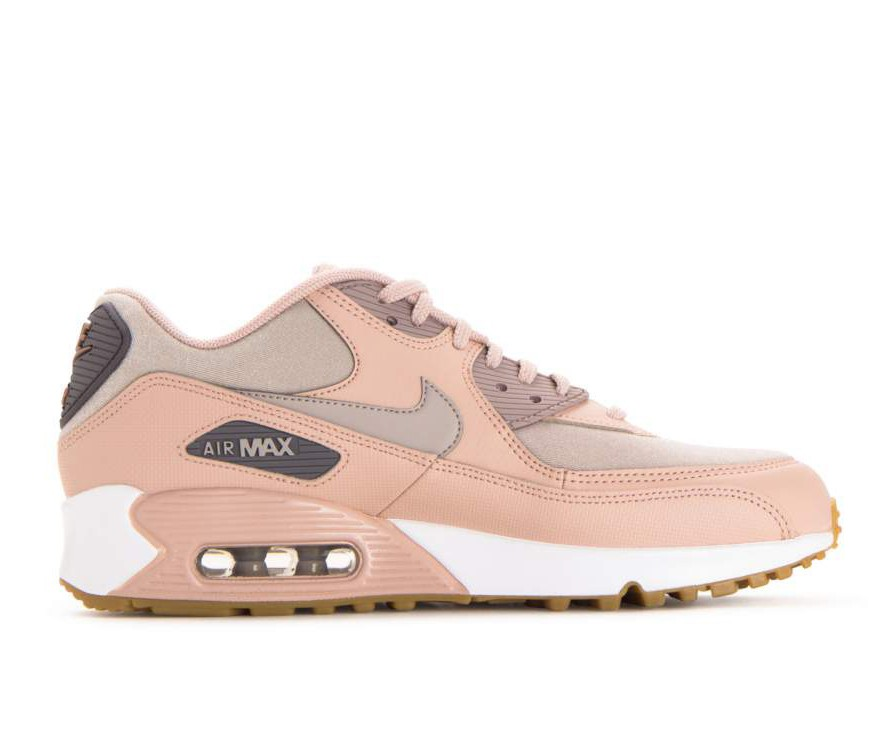325213-206 Nike Femme Air Max 90 - Beige/Moon Particle-Gunsmoke