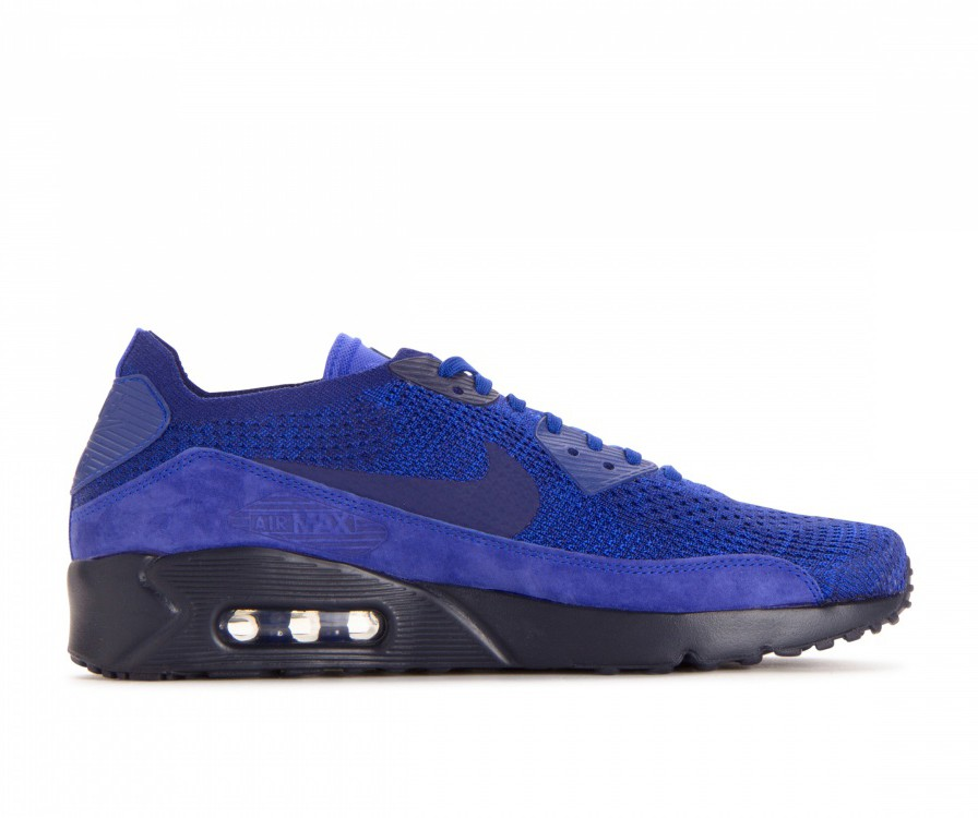 875943-402 Nike Air Max 90 Ultra 2.0 Flyknit - Bleu/Deep Royal-Bleu-Bleu