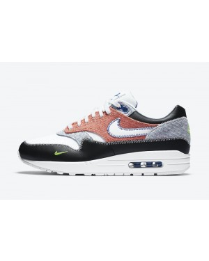 CT1643-100 Nike Air Max 1 NRG - Blanche/Noir-Vert-Game Royal