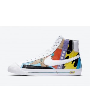 CZ3775-900 Ruohan Wang x Nike Blazer Mid '77 Flyleather - Blanche/Multicolor
