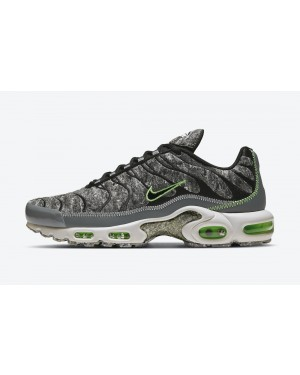 "DA9326-001 Nike Air Max Plus Essential ""Crater"" - Noir/Vert-Grise-Light Bone"