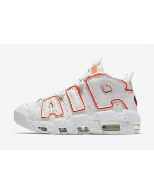 """DH4968-100 Nike Air More Uptempo """"Sunset"""" - Blanche/Orange"""
