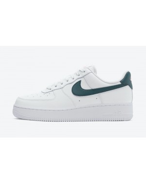 315115-163 Nike Femme Air Force 1 Low - Blanche/Sarcelle foncée Vert-Sunset Pulse