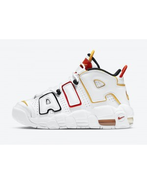 """DD9282-100 Nike Air More Uptempo GS """"Raygun"""" - Blanche/Noir-Rouge"""