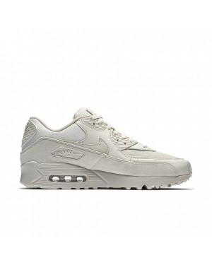 700155-013 Nike Air Max 90 Premium Chaussures - Light Bone/String
