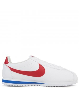 749571-154 Nike Classic Cortez Leather - Blanche/Rouge-Varsity Royal