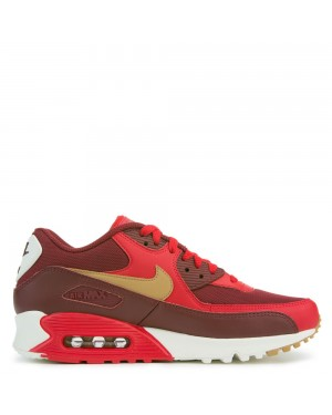 537384-607 Nike Air Max 90 Essential - Game Rouge/Or/Sail