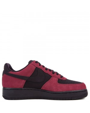 820266-605 Nike Air Force 1 Chaussures - Port/Port Wine-Blanche-Noir