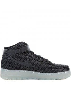 804609-005 Nike Air Force 1 Mid '07 LV8 - Noir/Noir-Blanche-Metallic Silver