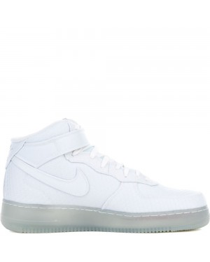 804609-102 Nike AIR FORCE 1 MID '07 LV8 - Blanche/Metallic Silver