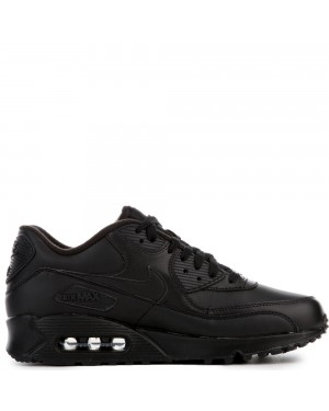 302519-001 Nike AIR MAX 90 LEATHER Chaussures - Noir/Noir