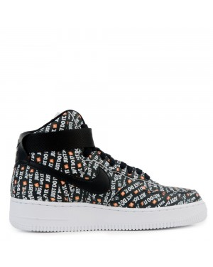 AO5138-001 Femme Nike Air Force 1 Hi LX - Noir/Blanche-Orange
