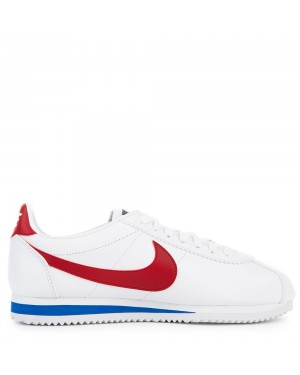 807471-103 Femme Classic Cortez Leather - Blanche/Rouge-Varsity Royal