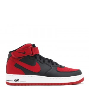 Nike Air Force 1 Mid 07 (Noir/Rouge/Blanche) - Homme 315123 029