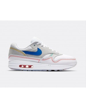 AV3735-002 Nike Air Max 1 By Day - Pure Platinum/Bleu-Blanche