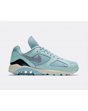 AV3734-400 Nike Air Max 180 Chaussures - Ocean Bliss/Metallic Silver-Igloo