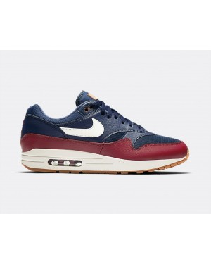 AH8145-400 Nike Air Max 1 Chaussures - Navy/Sail-Rouge-Sail