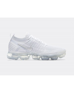 942843-105 Nike Femme Air Vapormax Flyknit 2 - Blanche/Blanche/Grise-Grise