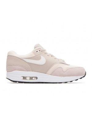 319986-207 Nike Femme Air Max 1 Chaussures - Strings/Sail-Light Cream-Noir
