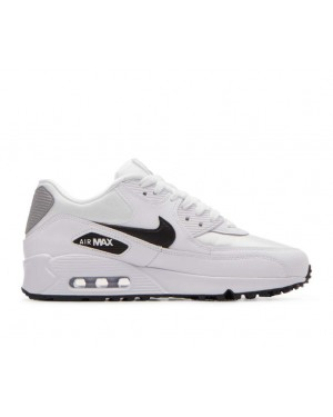 325213-137 Nike Femme Air Max 90 Chaussures - Blanche/Noir-Argent