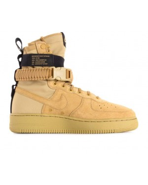 864024-700 Nike Sf Air Force 1 Chaussures - Or/Or-Noir