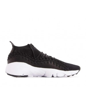 AO5417-001 Nike Air Footscape Woven NM Flyknit Chaussures - Noir/Noir-Blanche