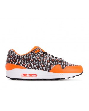 875844-008 Nike Air Max 1 Premium JDI - Noir/Noir-Orange-Blanche