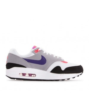 319986-114 Nike Femme Air Max 1 Chaussures - Blanche/Blanche