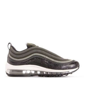 917646-300 Nike Femme Air Max 97 Premium - Sequoaia/Dark Stucco-Light Bone-Noir