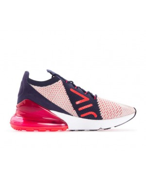 AH6803-200 Nike Femme Air Max 270 Flyknit - Moon Particle/Rouge-Bleu