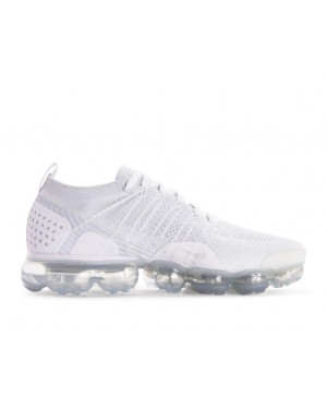942842-105 Nike Air Vapormax Flyknit 2 - Blanche/Blanche-Grise-Grise