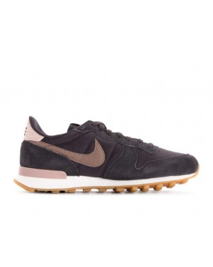 828407-024 Nike Femme Internationalist Chaussures - Grise/Marron-Blanche