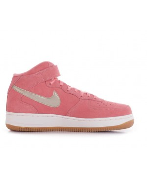 818596-800 Nike Femme Air Force 1 07 Mid SEasonal - Bright Melon/Metallic Gold-Sail