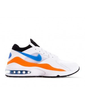 306551-104 Nike Air Max 93 - Blanche/Bleu/Orange/Noir