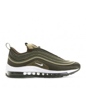 917998-300 Nike Air Max 97 Ultra '17 GS - Cargo Khaki/Blanche-River Rock